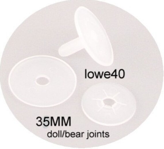 Plastic Doll and Teddy Bear Joints 20mm 12 Sets!
