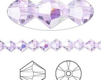 Swarovski Crystal VIOLET AB beads 6MM (24) 5301 bicone