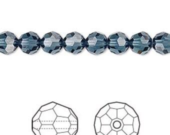 Swarovski Crystal MONTANA BLUE beads 6MM (7) 5000 round
