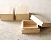 3 pcs - Small wooden gift box - JAPANESE STYLE - E TYPE