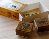 NEW - Matchbox Style Stamp Set - House and cat