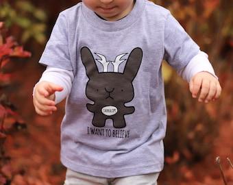 Jackalope Baby Toddler Kid T-Shirt, Children's Graphic Tee, Kawaii Boy Girl Unisex Shirt Cute Funny TSHIRT ON SALE