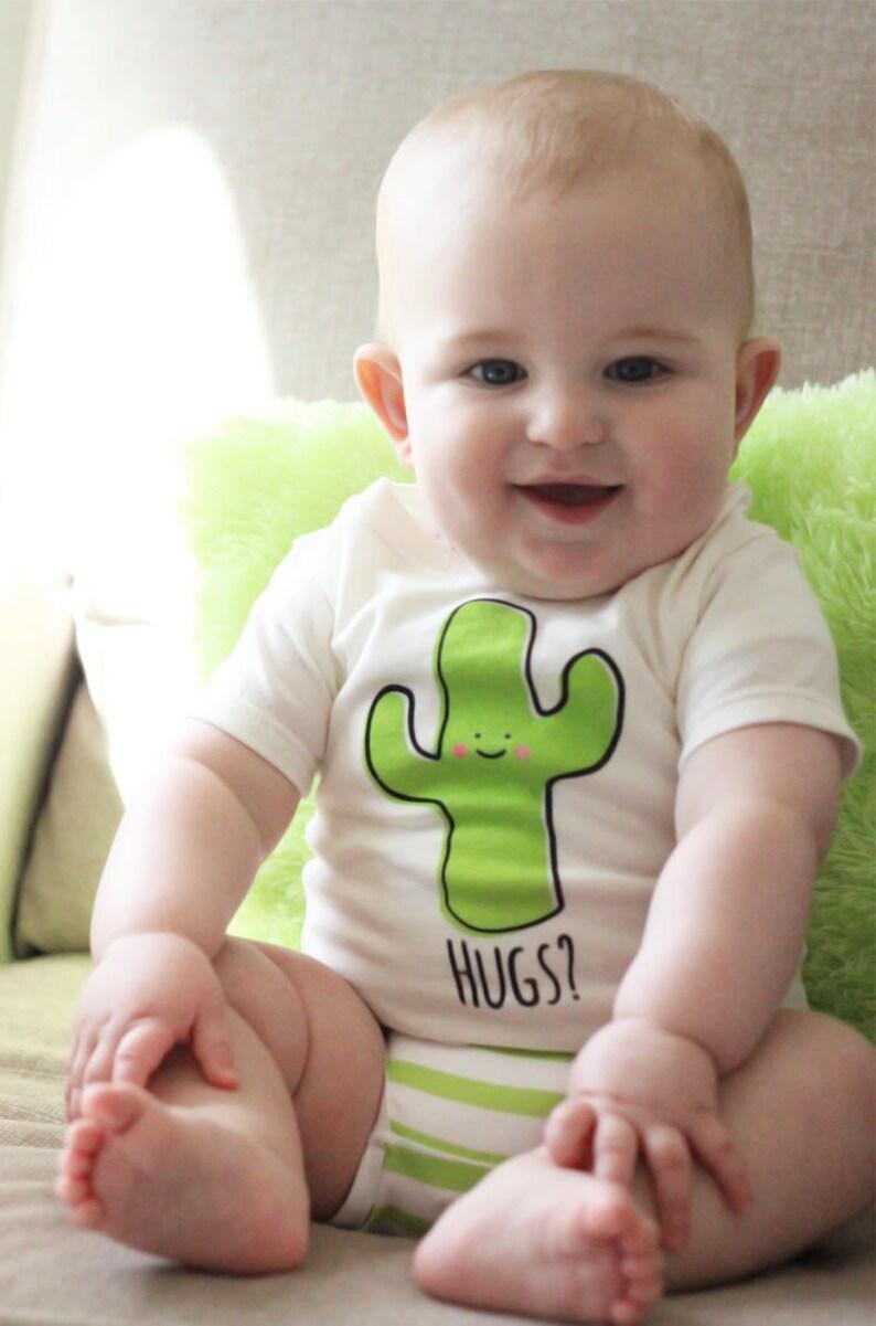 Natural Cactus Hug Baby Toddler Kid T-Shirt Children's image 0