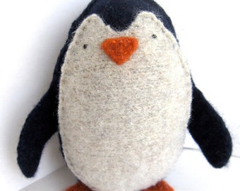Midnight Blue Penguin - Recycled Cashmere Plush Toy
