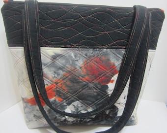 Watercolor Print Large Tote Bag 920