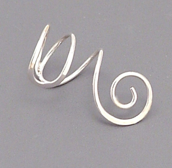 Sterling Silver Spiral Ear Cuff by Sunny Skies Studio
