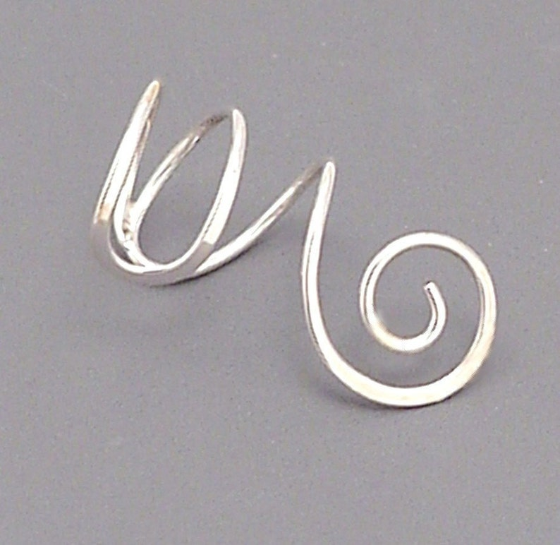 SPIRAL EAR CUFF Sterling Silver 925 Handcrafted Earcuff