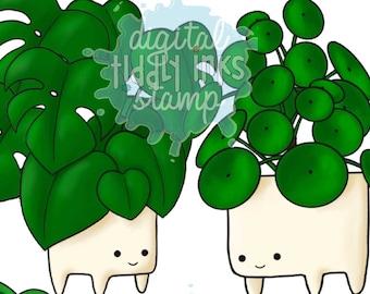 Fun Plants | 4 Digital Stamps