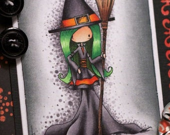 Betty Belfrey and Alison the Witch | 2 Digital Stamps