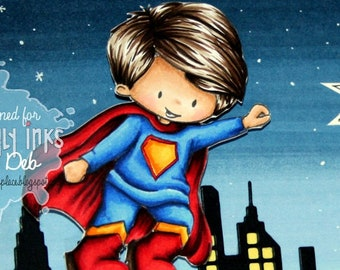 My Super Boys | 2 Digital Stamps