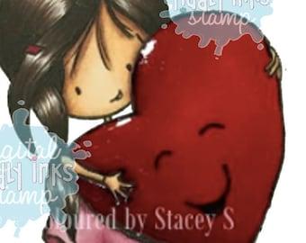 Wryn - Happy Heart   Digital Stamps
