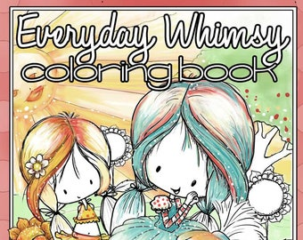 Everyday Whimsy| Digital Coloring Book | Printable | Adult or Kid