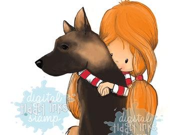 Wryn - German Shepherd  Digital Stamp