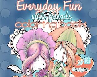 Everyday Fun | Digital Coloring Book | Printable | Adult or Kid