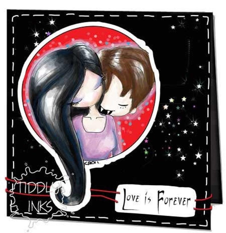 2 Vampire Couples Digital Stamp image 0