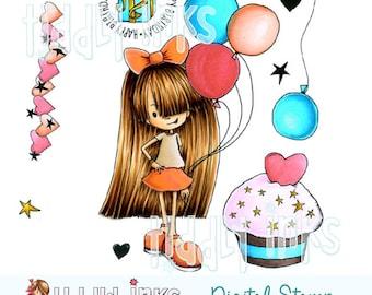 Starry Birthday |Digital Stamp