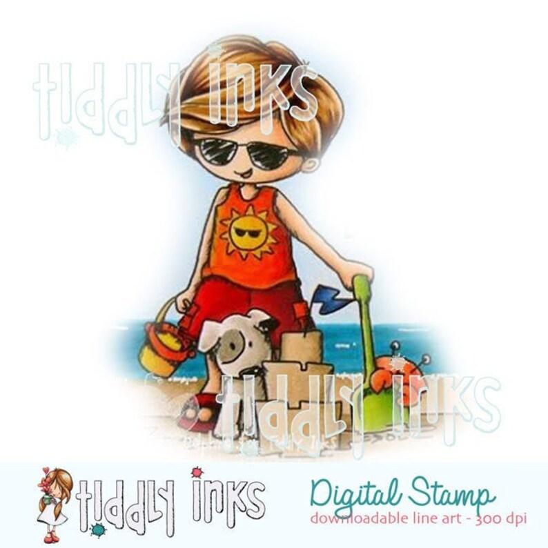 Beach Boy  Digital Stamp image 0