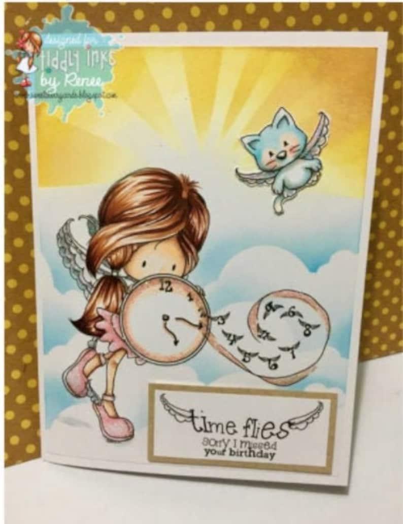 Time Flies Wryn  Digital Stamp image 0