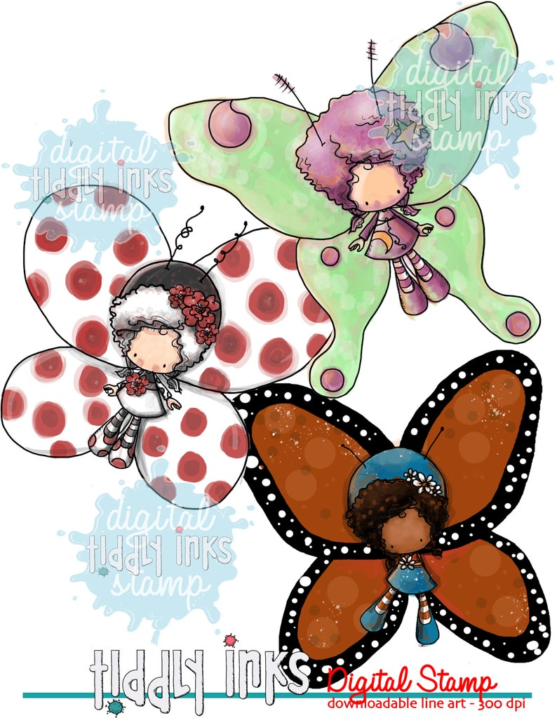 HuggaBugs  3 Digital Stamps image 0