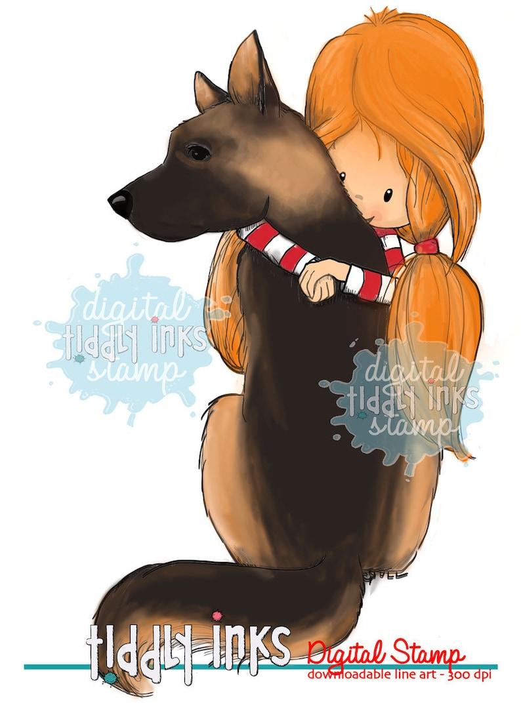 Wryn Digital Stamp German Shepherd