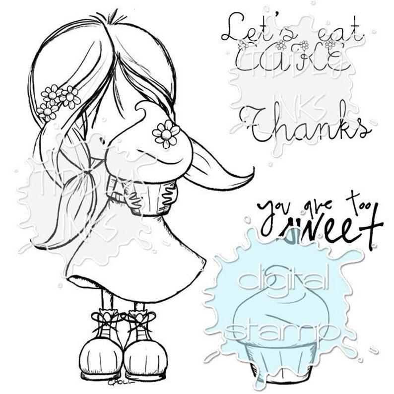 Wryn  Eat Cake  Digital Stamp image 0