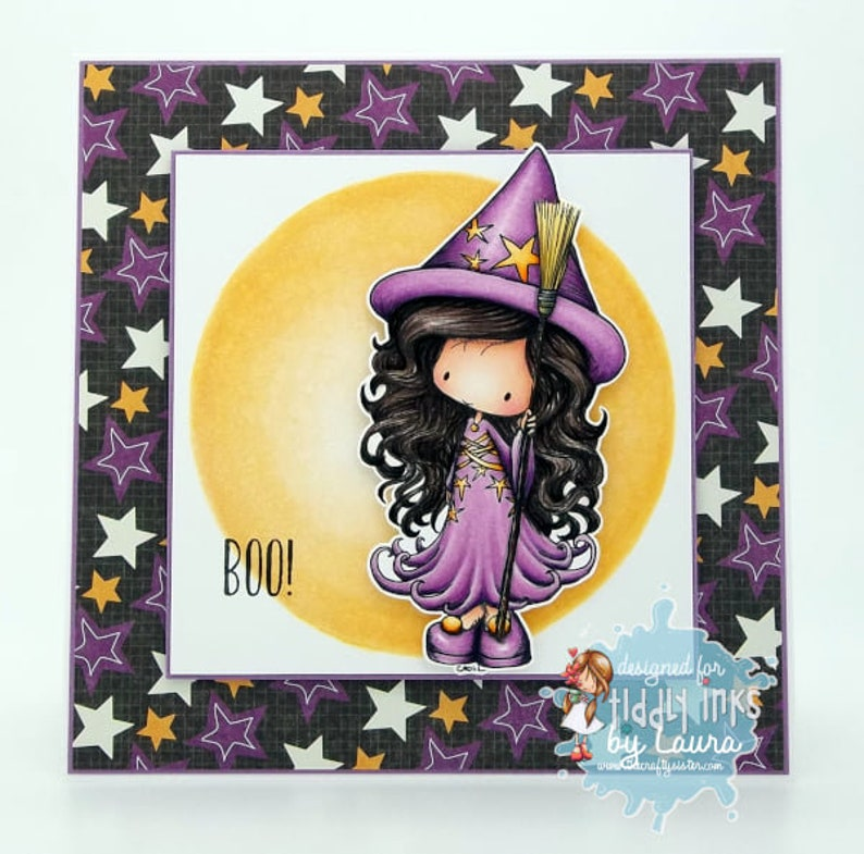 Witchy Molly  Digital Stamp image 1