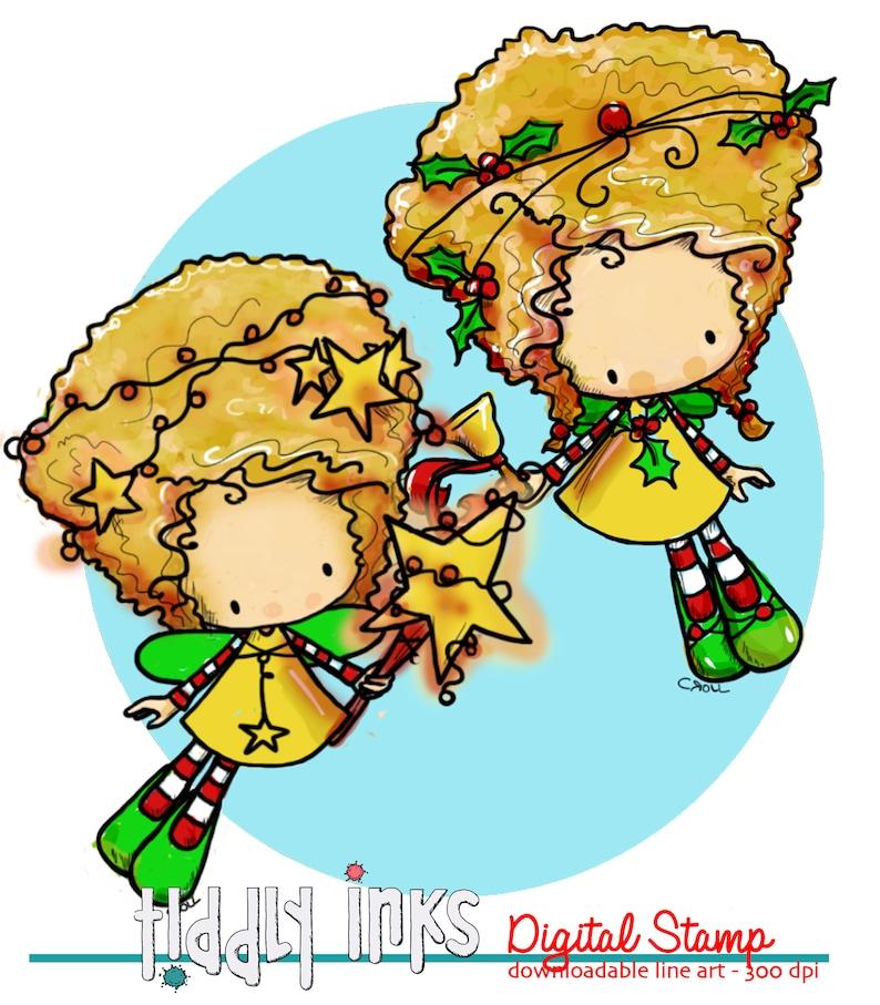 Christmas Sprites  2 Digital Stamps image 0