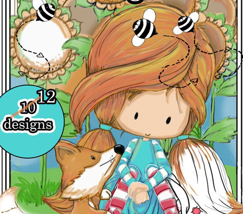 Friendship Days  Digital Coloring Book  Printable  Adult or image 0