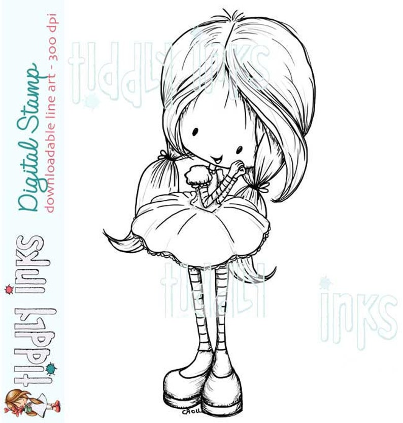 My Happy Thought Digital Stamp Wryn