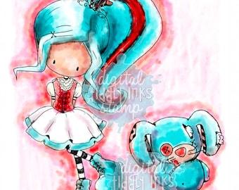 Sumbunny Hearts U | Digital Stamp