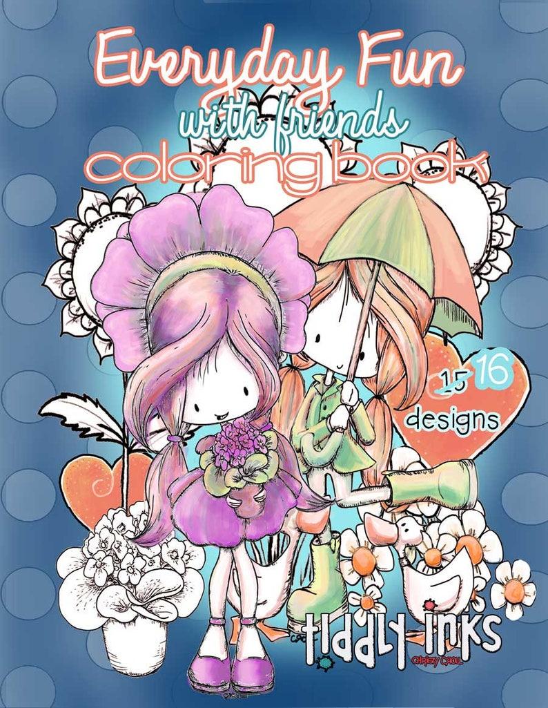 Everyday Fun  Digital Coloring Book  Printable  Adult or image 0