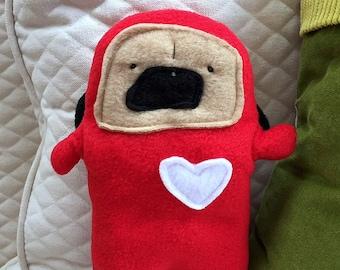 Beatrice ~ The Ladybug Pug Bummlie ~ Stuffing Free Dog Toy ~ Ready To Ship Today