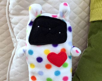 Dot ~ The Bunny Bummlie ~ Stuffing Free Dog Toy ~ Ready To Ship Today