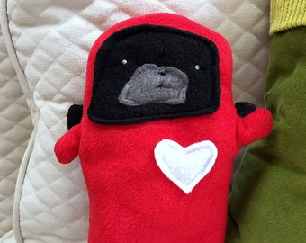 Gwen ~ The Ladybug Black Pug Bummlie ~ Stuffing Free Dog Toy ~ Ready To Ship Today