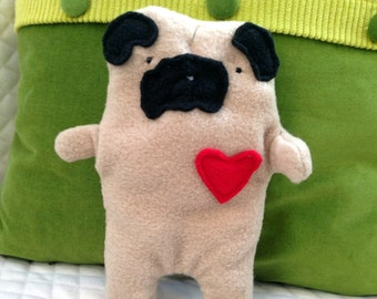 Earl ~ The Fawn Pug Bummlie ~ Stuffing Free Dog Toy ~ Ready To Ship Today