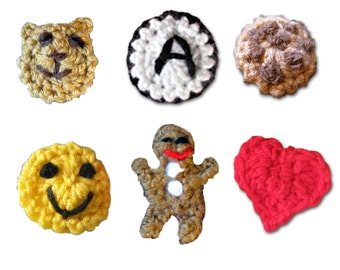 Add a Monogram, Smile, Teddy Bear, Chocolate Chip Cookie, Gingerbread Man or Heart Badge to any Dog Sweater Vest, Neck Warmer or Hat