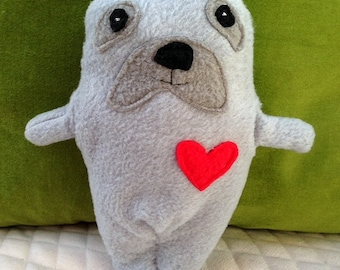 Celie ~ The Seal Bummlie ~ Stuffing Free Dog Toy ~ Ready To Ship Today