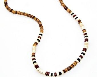 "18"" Surfer Necklace Coconut Bead SUP Hawaiian Beach Jewelry 7028"