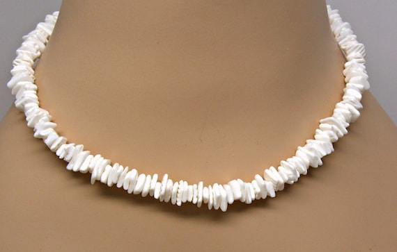 square shell necklace