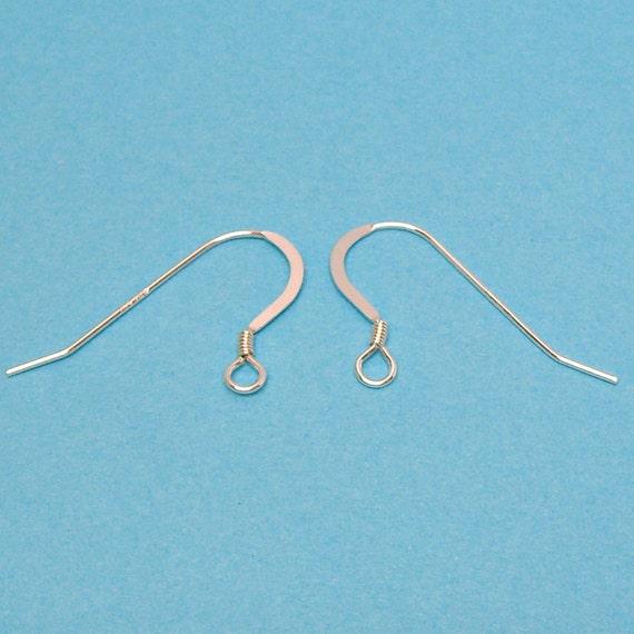 Solid .925 Sterling Silver Earwires Hook Ear Studs Dangle Earrings Findings