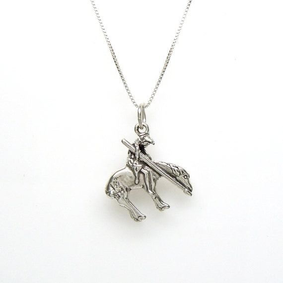 choker. Western /'End of the Trail/' Native American Horse necklace