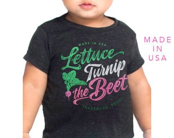 SALE lettuce turnip the beet ® trademark brand OFFICIAL site - grey track t shirt with logo - farmers market, vegan, vegetarian, garden tee