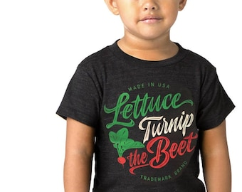8833a4b80f SALE Lettuce turnip the beet ® trademark brand OFFICIAL SITE - grey heather t  shirt with cursive logo - farming, funny, dance, music, vegan