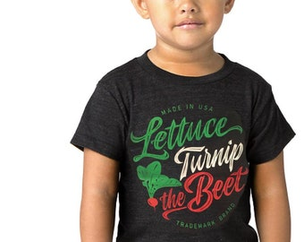 b7ddd7443 SALE Lettuce turnip the beet ® trademark brand OFFICIAL SITE - grey heather  t shirt with cursive logo - farming, funny, dance, music, vegan