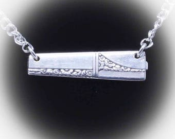 Wedding Birthday Silverware Silver Spoon Pendant CAMELOT Jewelry Necklace Vintage Gift Anniversary