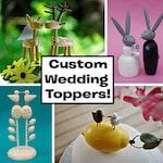 Custom Wedding Cake Toppers - reserved for Laura Lenfestey