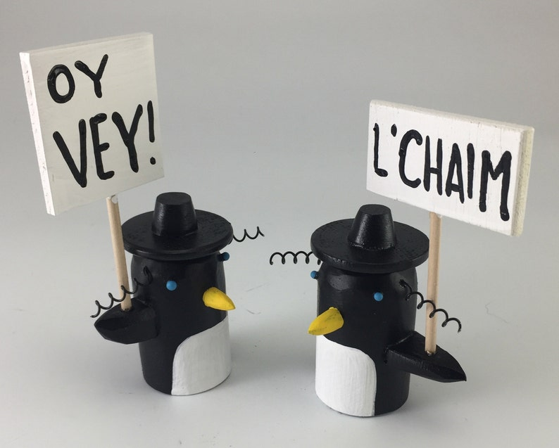 lil' rabbi penguin with something to say  hanukkah image 0