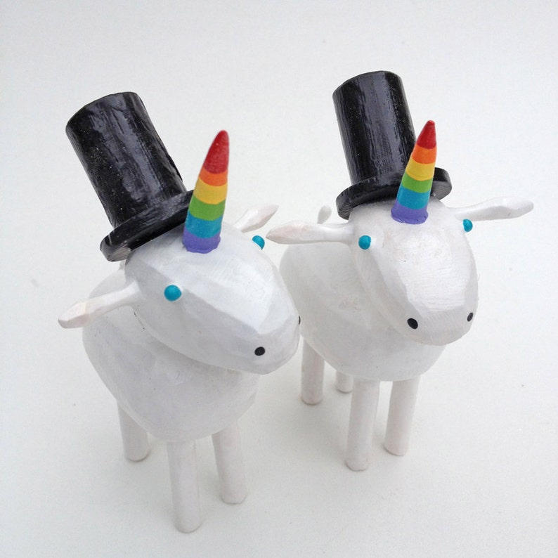 Unicorn Wedding Cake Toppers image 0