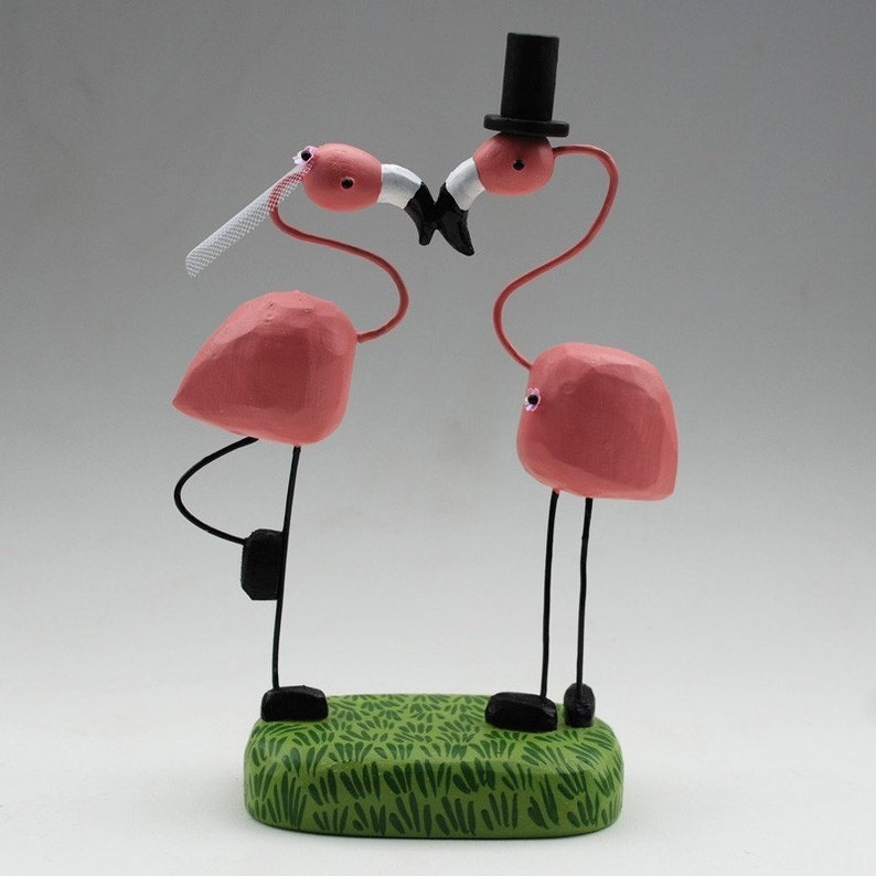 Flamingo Wedding Cake Toppers image 0