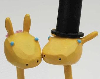 Giraffe Wedding Cake Toppers